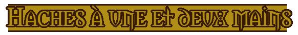 La Griffe du Lion, boutique d'armes Haches12
