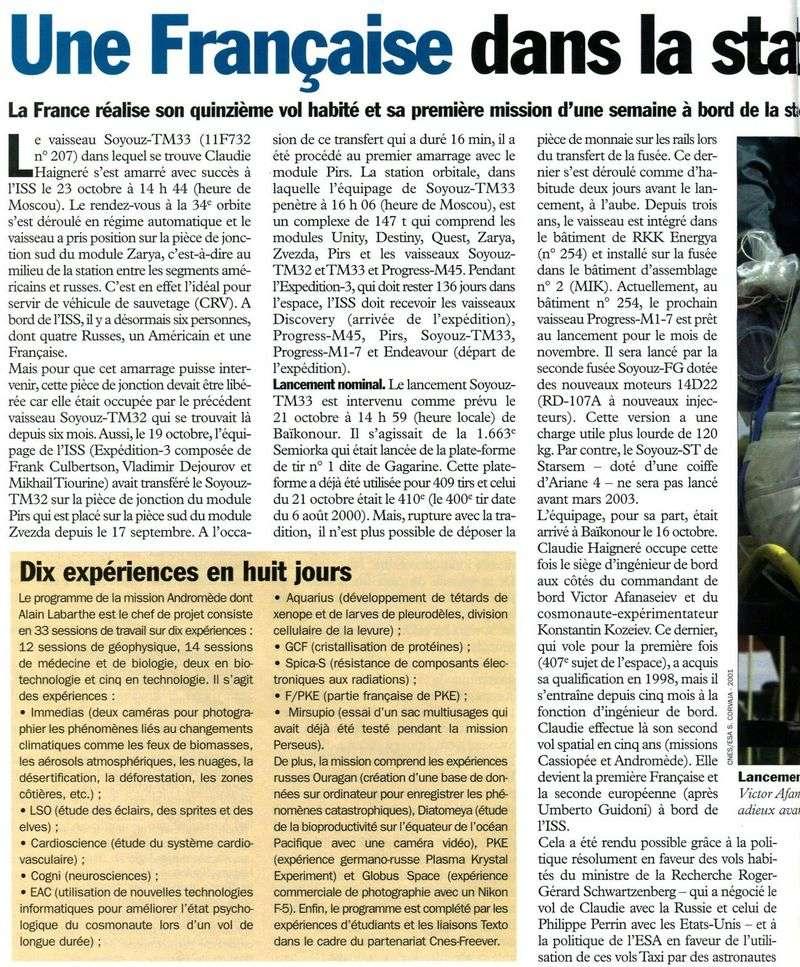Claudie Haigneré - 1ère Française dans l'espace - Page 2 01102610