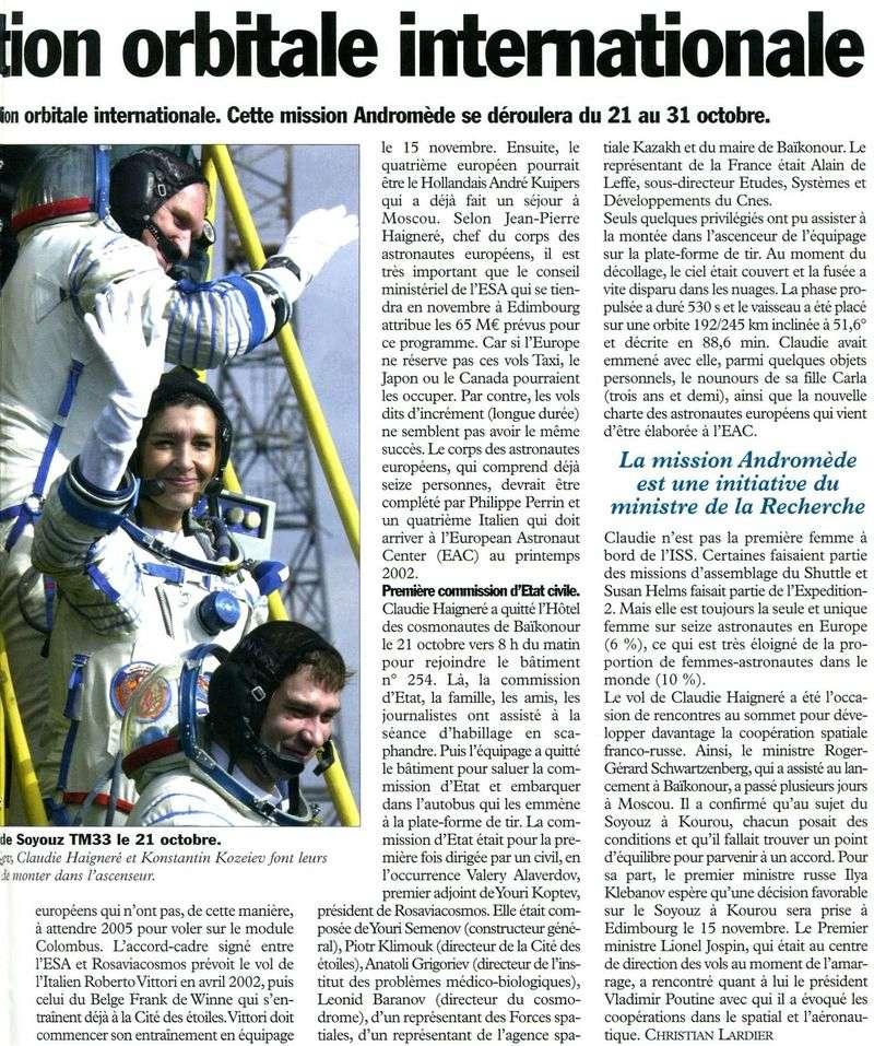 Claudie Haigneré - 1ère Française dans l'espace - Page 2 01102611