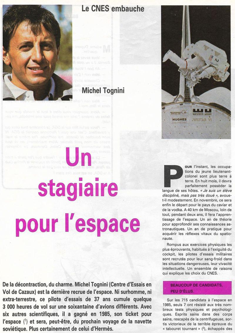 Michel Tognini - 3ème Français dans l'espace 86110010