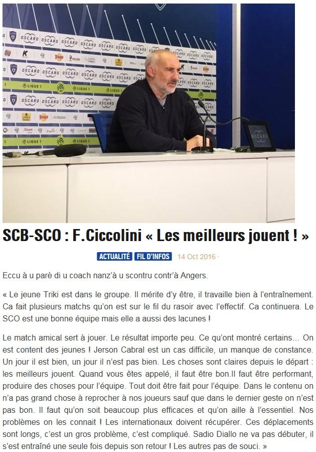 Avant match : Bastia - Angers S110
