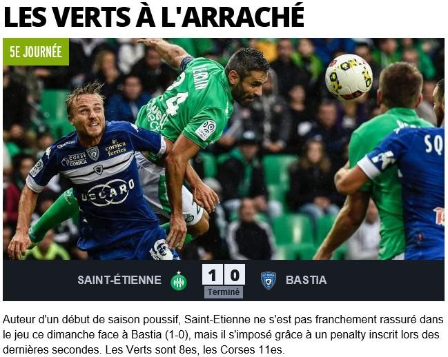 Après match : St Etienne 1-0 Bastia S17