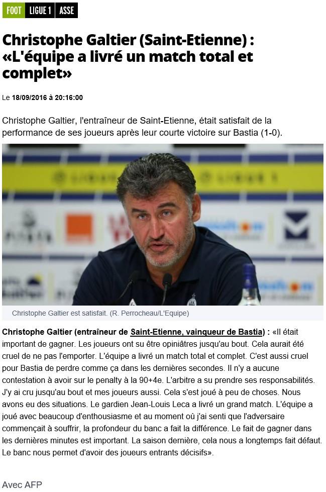 Après match : St Etienne 1-0 Bastia S19