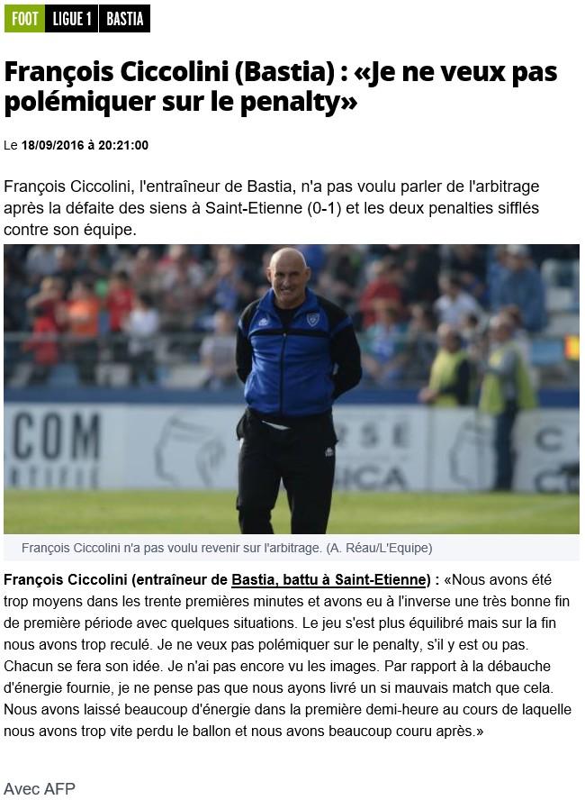 Après match : St Etienne 1-0 Bastia S20