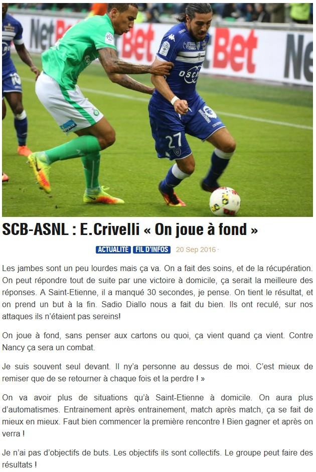 Avant match : Bastia - Nancy S25