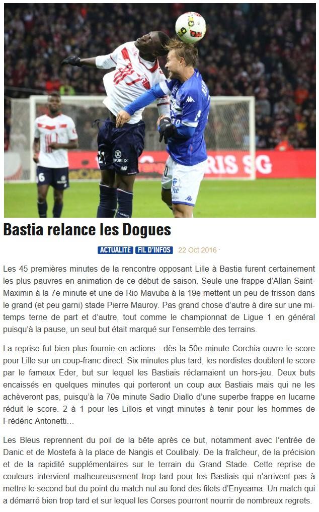 Après match : Lille 2-1 Bastia S51