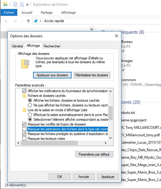 """Bug sur mon pc plus possible de crée des fichier text en """".js"""" Option10"""