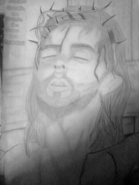 portrait jesus christ et dessin ange  2016-012