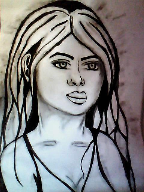 peinture et pastel portrait femme Image_14
