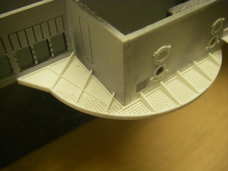Bau der Bismarck in 1:100  Imgp8512