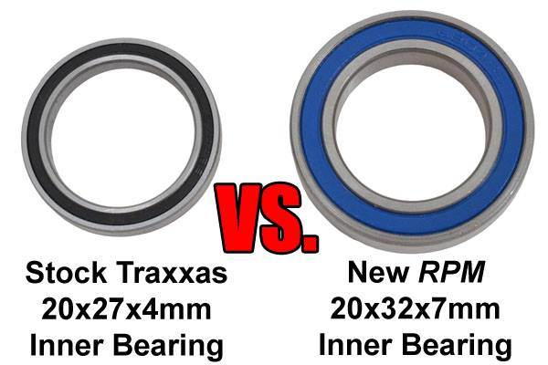[New]Portes Fusées Arrière pour X-Maxx par RPM /Oversized Rear Axle Carriers 81732 14100510