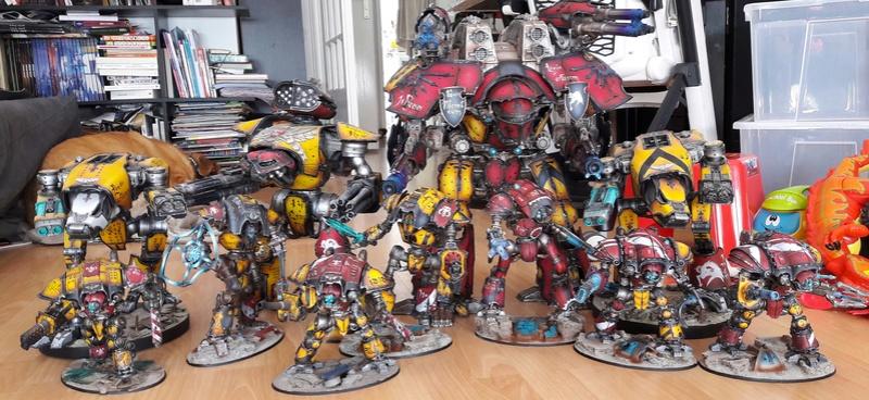 Iron hands, chevaliers, legion cybernetica et maintenant titan warlord  20160928