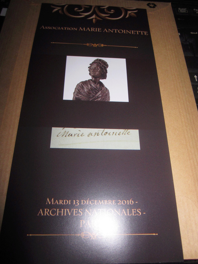 Marie-Antoinette : Colloque aux Archives Nationales 13 décembre 2016 Img_0211