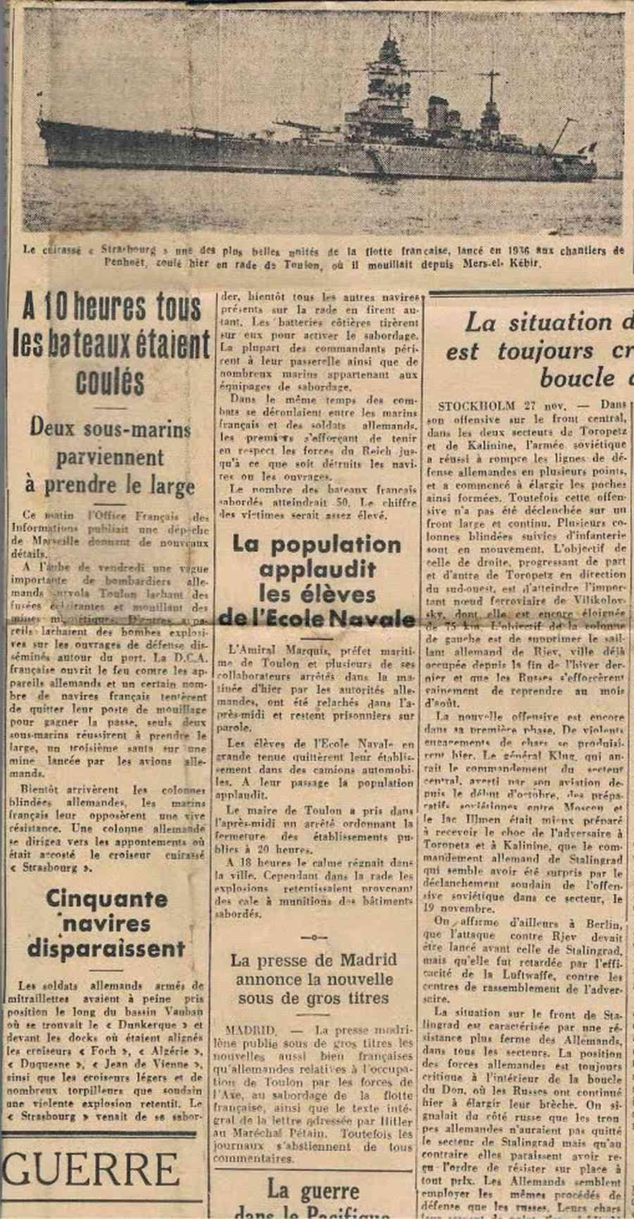 [Histoire et histoires] Toulon : Sabordage de la Flotte (photos) - Page 4 0010