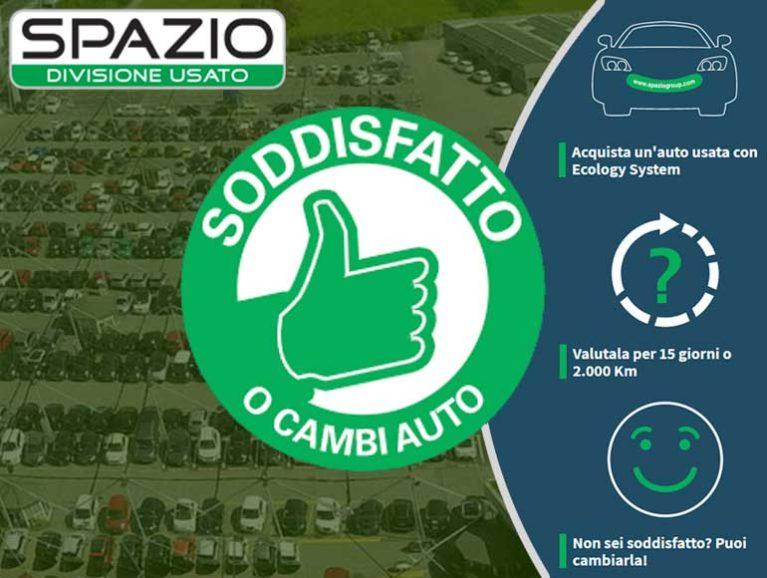 """La concessionaria Spazio lancia l'esclusiva promozione """"Soddisfatto o Cambi Auto"""" Spazio12"""
