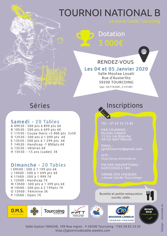 5ème Tournoi de la Jeune Garde Tourcoing National B Affich12
