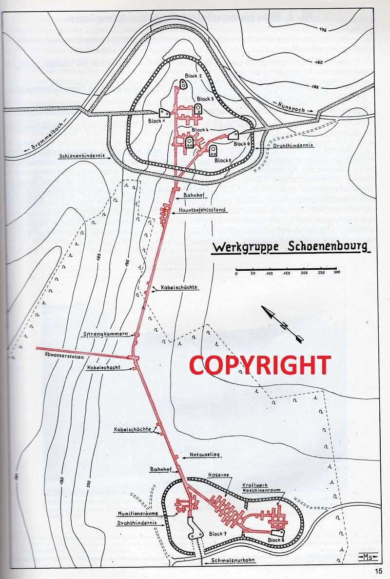 Festung Schoenenbourg. An der Maginot -Linie.  313