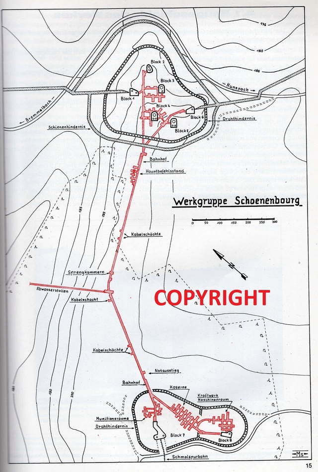 Festung Schoenenbourg. An der Maginot -Linie.  314