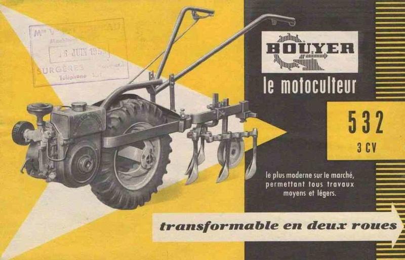 Notices Motoculture: Agria, Bernard, Bouyer, Ferrari, Goldoni, Honda, Kubota, Lombardini, Motostandard, Staub, Wolf ... 532_bo10