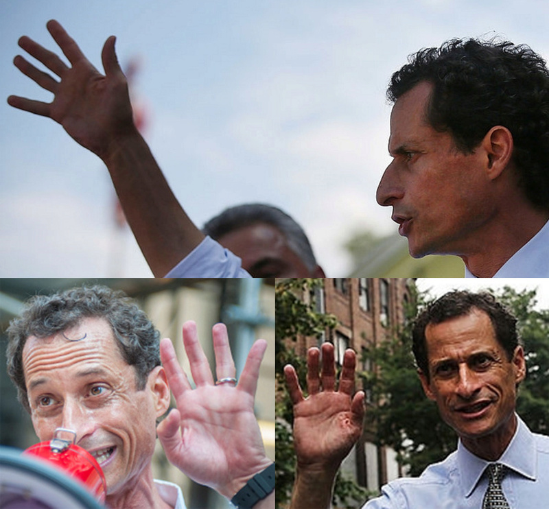 The hands of Anthony Weiner - who became Hillary Clinton's worst nightmare! Anthon13