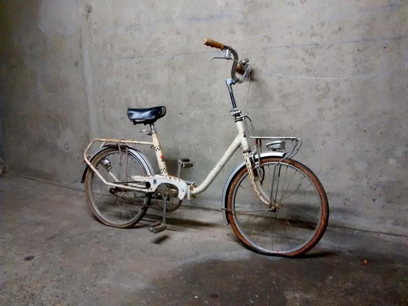 Mini Peugeot D40, transformation en vélo de jardin Img_2032