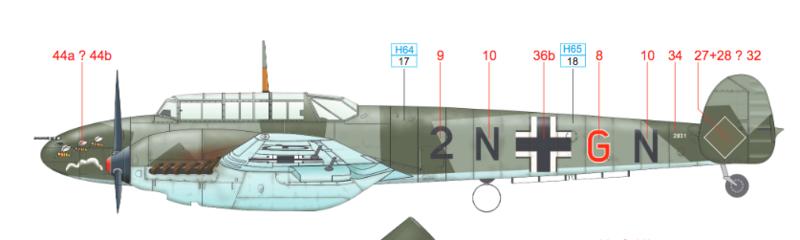 Messerschmitt BF-110 C 1/48 Eduard Captur50