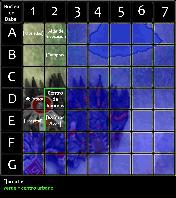Viajes por núcleo de Babel Mapa_n12