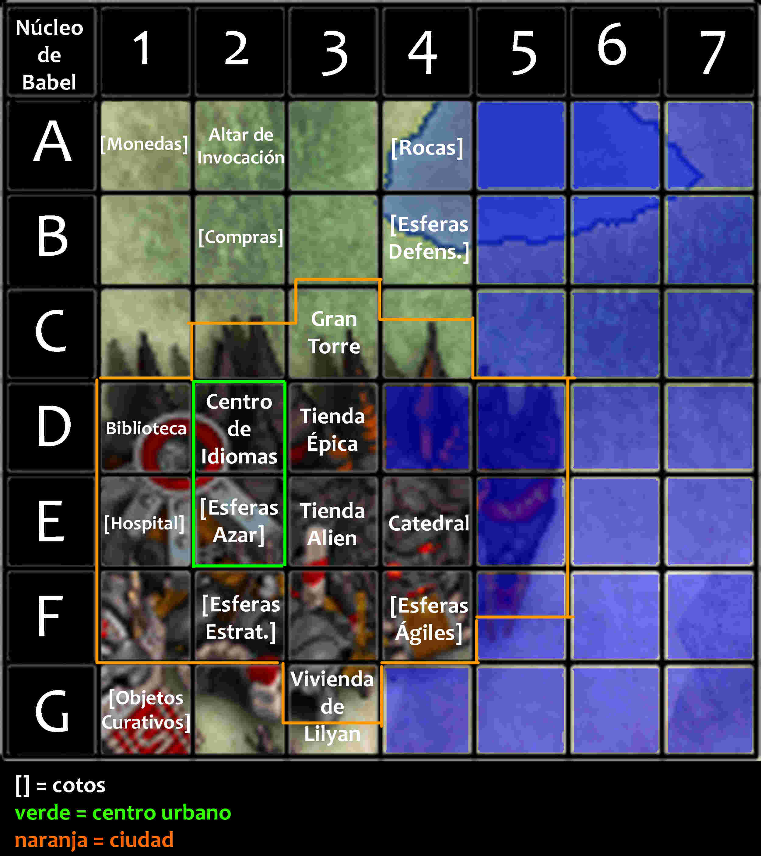Viajes por núcleo de Babel Mapa_n17