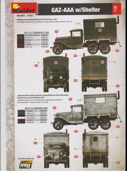 GAZ-AAA w/Shelter von MiniArt  M1:35 00111