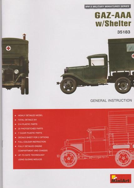 GAZ-AAA w/Shelter von MiniArt  M1:35 00211