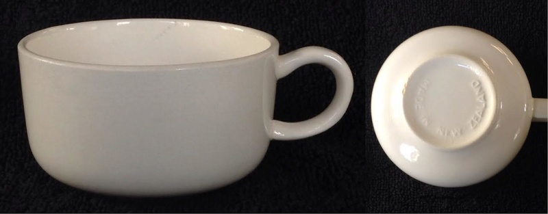 3031 (Air New Zealand) cup in clear glaze 303110