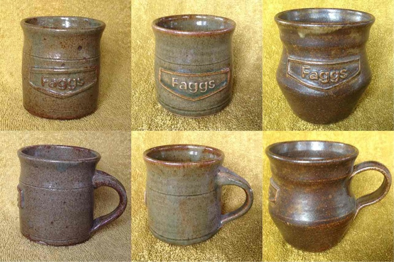 "handpotted coffee mugs for ""Faggs"" Faggs10"