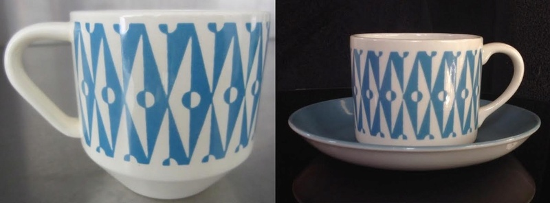 Patterns from 3012 cups reused on various coffee cans: Focus, Motif, Conifer (and Talahasse vs Candy Stripe) Focus110