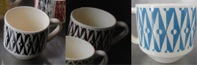 Patterns from 3012 cups reused on various coffee cans: Focus, Motif, Conifer (and Talahasse vs Candy Stripe) Focus210