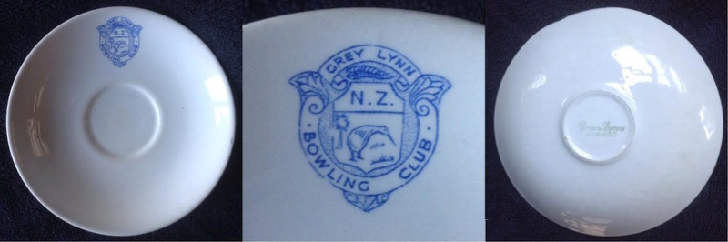 Earliest marks on Crown Lynn cups, saucers, and mugs. Also Grey Lynn Bowling Club for monograms GALLERY Glbowl10