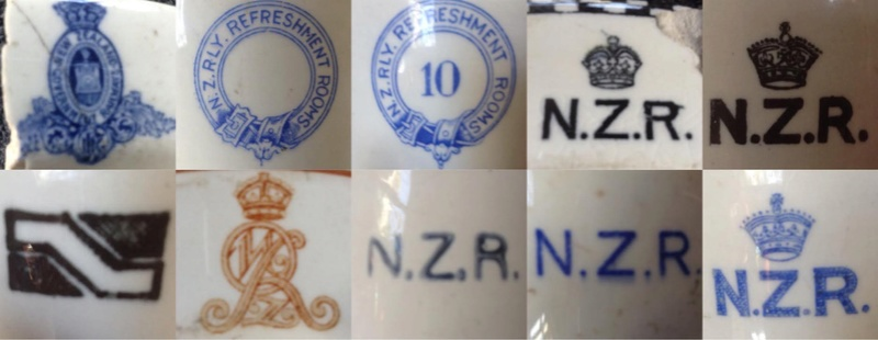 Ambrico and Crown Lynn NZR monograms Mono310