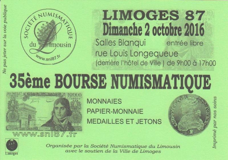 Bourse Numismatique à Limoges, 2 octobre 2016 Bourse10