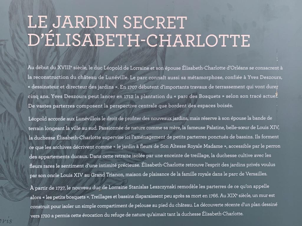 Restitution du jardin privé d'Elisabeth-Charlotte d'Orléans à Lunéville 352cca10