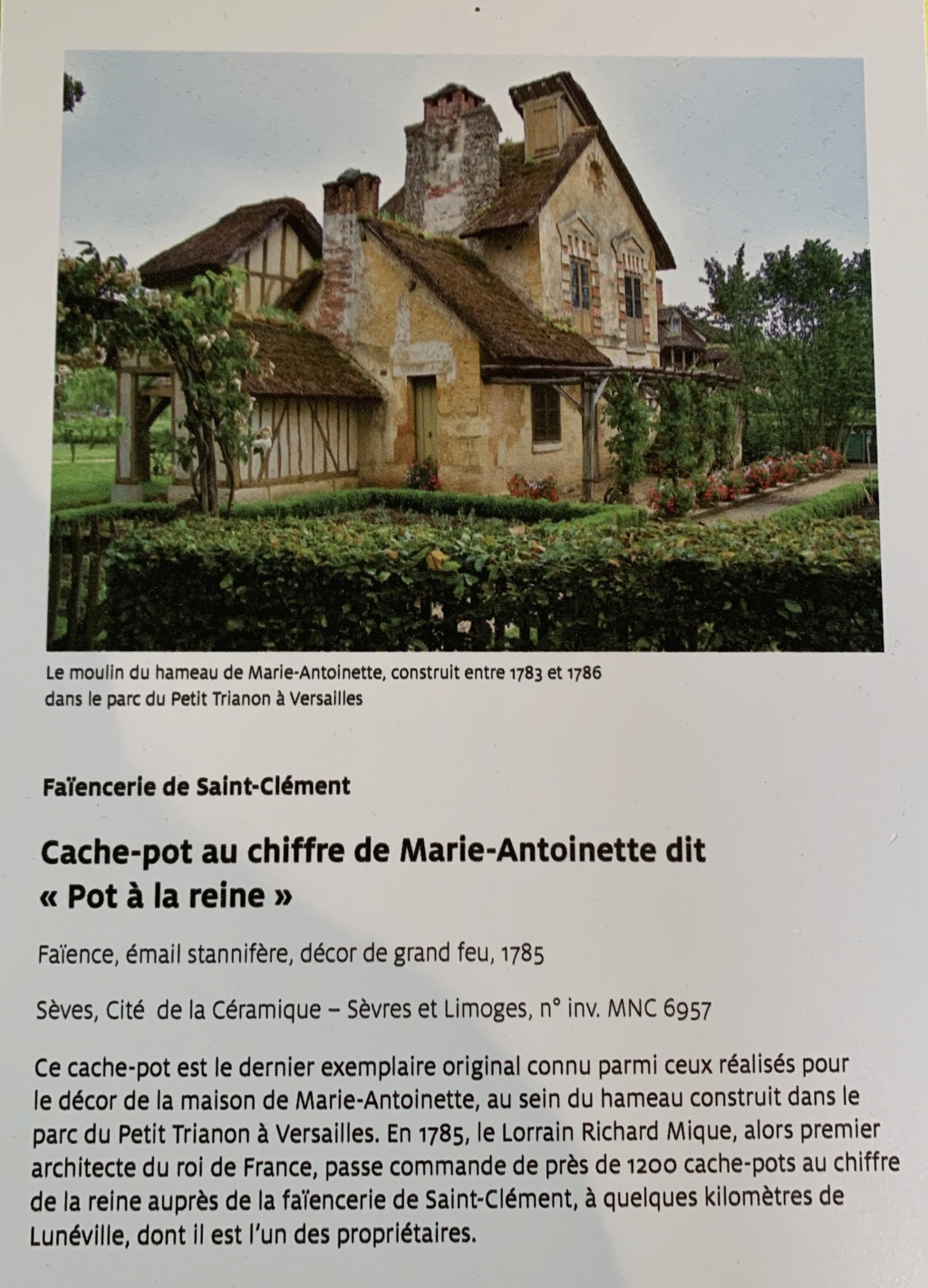 Hameau du Petit Trianon : Restauration de la maison de la Reine  - Page 19 628fab10