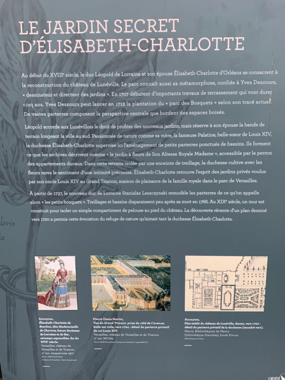 Restitution du jardin privé d'Elisabeth-Charlotte d'Orléans à Lunéville E0055510