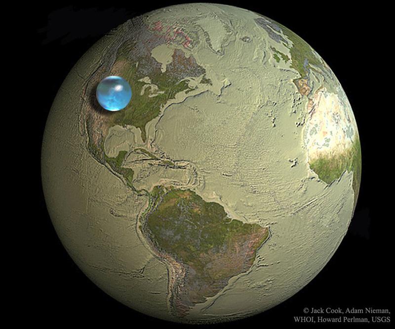 Ce que la quantité des océans reprèsente sur la terre Waterl10
