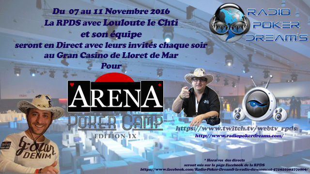 Aréna Poker Camp 9eme Edition du 7 au 11 Nov. 2016 Webtv_10