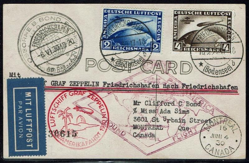 """nach - Südamerikafahrt 1930 (Rundfahrt-) Post nach Friedrichshafen"""" - Seite 6 57_p_k10"""