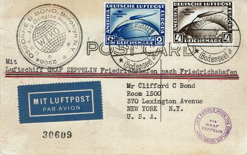 """nach - Südamerikafahrt 1930 (Rundfahrt-) Post nach Friedrichshafen"""" - Seite 6 57_p_k12"""
