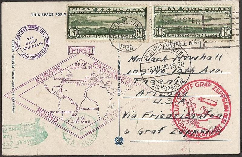 """nach - Südamerikafahrt 1930 (Rundfahrt-) Post nach Friedrichshafen"""" - Seite 6 64_aii11"""