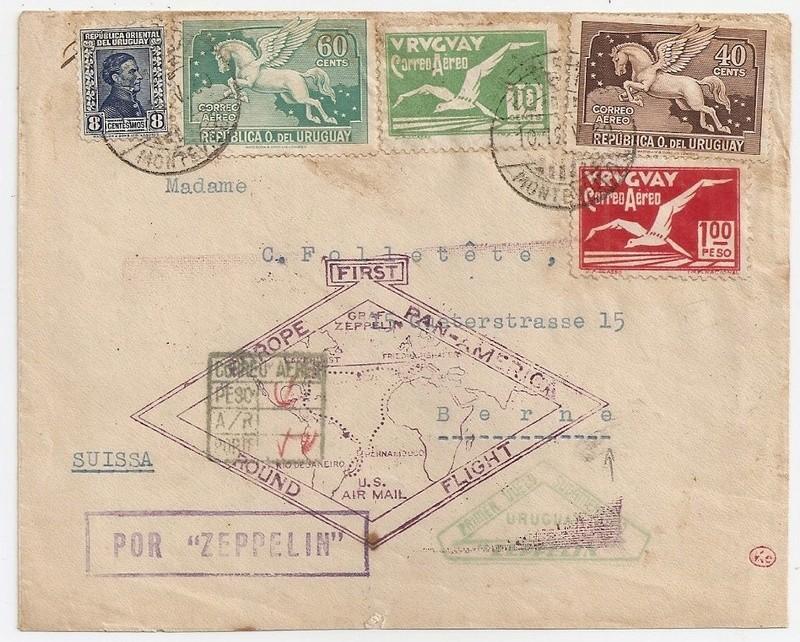 """nach - Südamerikafahrt 1930 (Rundfahrt-) Post nach Friedrichshafen"""" - Seite 6 _57-210"""