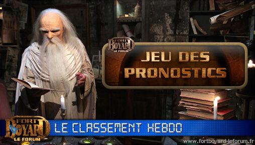 [RÉSULTATS] Classement hebdo après l'émission 9 du samedi 31/08/2013 Pronos19