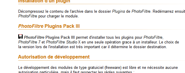 les modules externes de PFS Module10