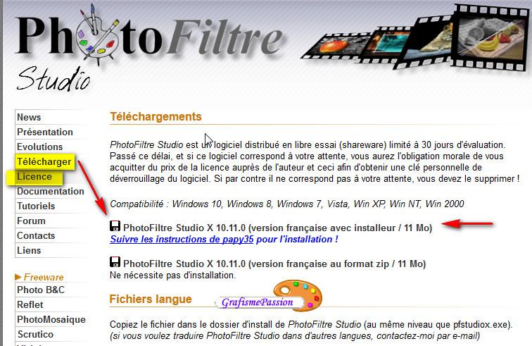 Mise à jour de Photofiltre Studio Telech10