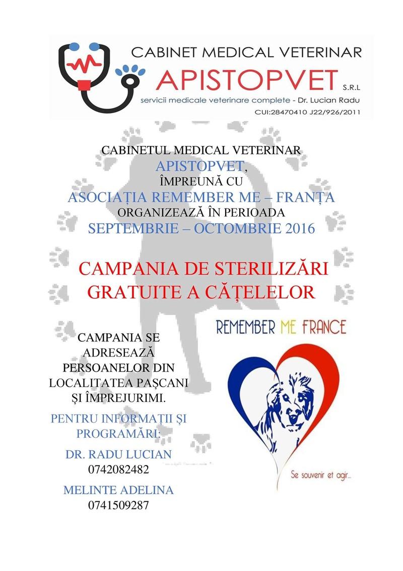 Campagne de stérilisation pour les propriétaires particuliers de Pascani 14215210